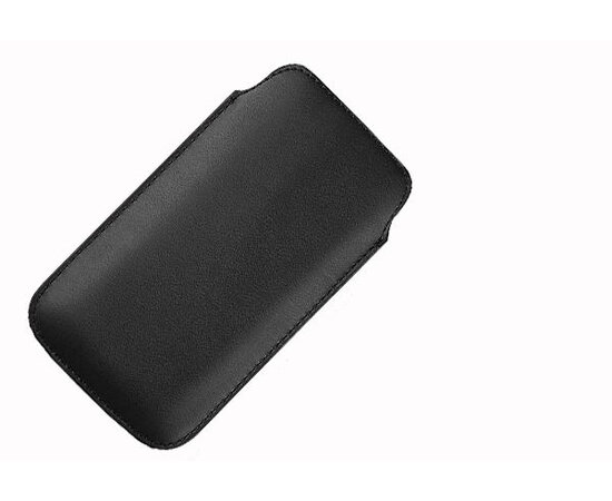 Кожаный черный чехол для iPhone 4/4S