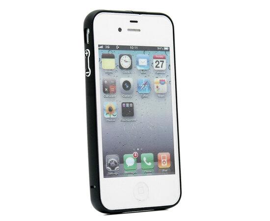 Алюминиевый черный бампер для iPhone 4/4S