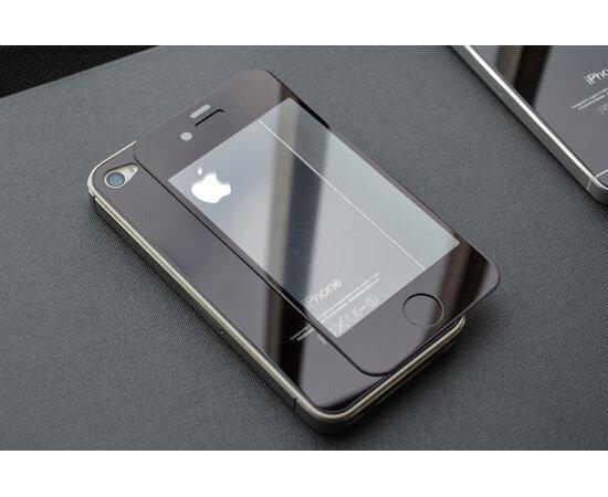 Переднее+заднее черное стекло для iPhone 4/4S