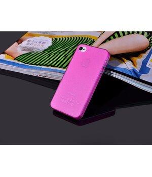 "Ультратонкий чехол ""Ultrathin 0.3mm"" розовый для iPhone 4/4S"