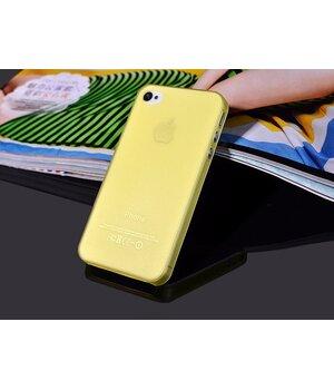 "Ультратонкий чехол ""Ultrathin 0.3mm"" желтый для iPhone 4/4S"