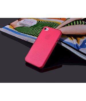 """Ультратонкий чехол """"Ultrathin 0.3mm"""" красный для iPhone 4/4S"""
