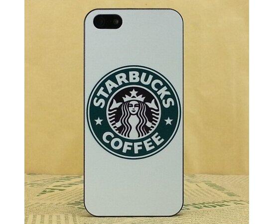 """Чехол """"Starbucks"""" пластиковый для iPhone 5C белый"""