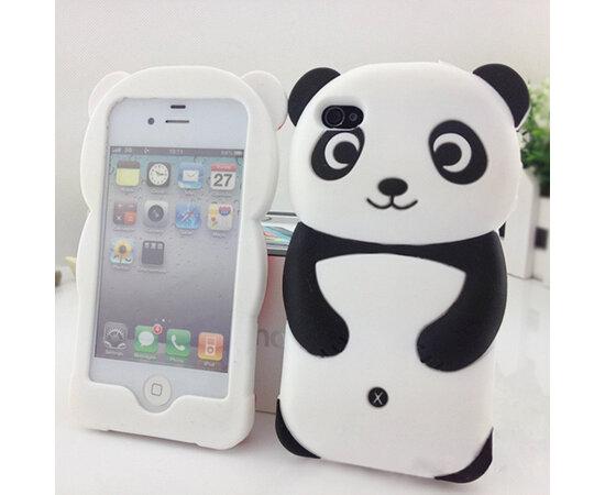 """Резиновый 3D чехол """"Панда"""" для iPhone 5/5S/SE"""