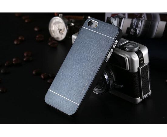 Чехол с алюминиевой задней крышкой темно-синий пластиковый для iPhone 4/4S