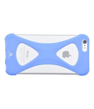 """Силиконовый бампер soft touch """"Metal Storm"""" голубой для iPhone 6 Plus/6S Plus"""
