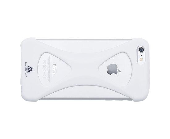 """Силиконовый бампер soft touch """"Metal Storm"""" белый для iPhone 6 Plus/6S Plus"""