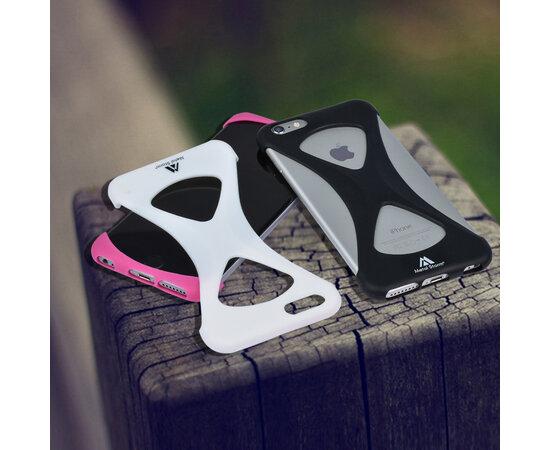 """Силиконовый бампер soft touch """"Metal Storm"""" розовый для iPhone 6 Plus/6S Plus"""