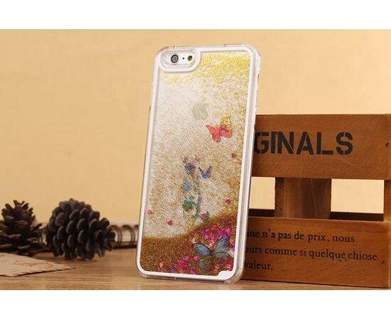 Переливающийся пластиковый чехол золотой для iPhone 6 Plus/6S Plus