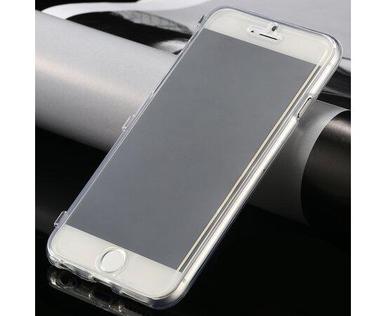 Силиконовый прозрачный чехол-книжка для iPhone 6/6S