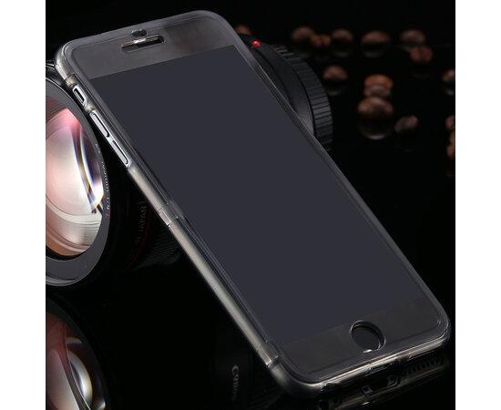 Силиконовый черный чехол-книжка для iPhone 6/6S