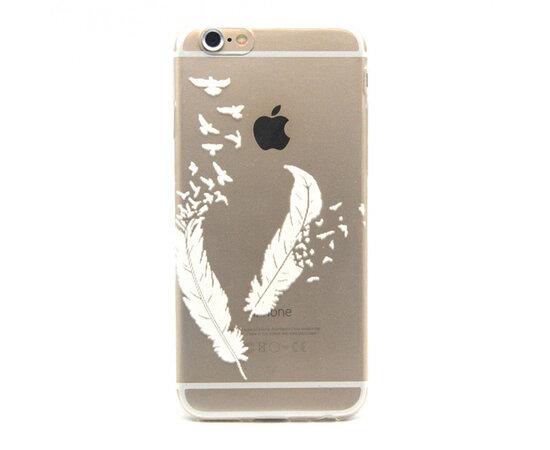 """Чехол """"Перья"""" силиконовый для iPhone 6 Plus/6S Plus"""