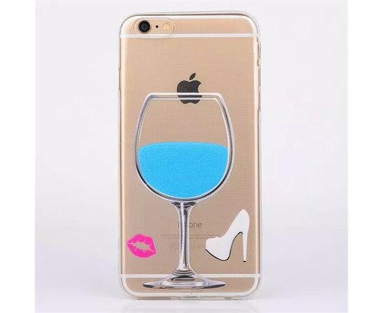 """Чехол """"Бокал"""" силиконовый для iPhone 6 Plus/6S Plus синий"""
