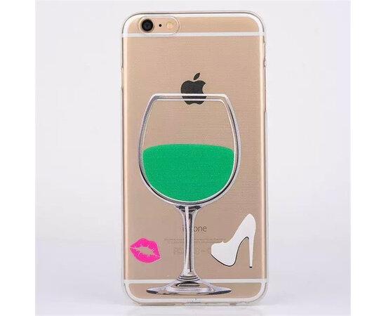 """Чехол """"Бокал"""" силиконовый для iPhone 6 Plus/6S Plus зеленый"""