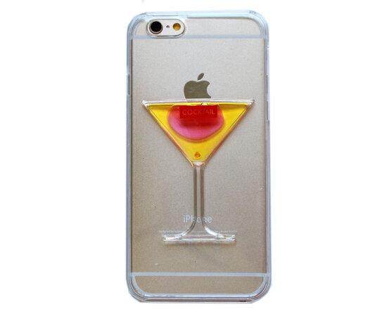 "Чехол ""Бокал"" пластиковый для iPhone 6/6S желтый"