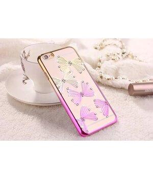 """Чехол """"Бантики"""" пластиковый для iPhone 6 Plus/6S Plus со стразами"""