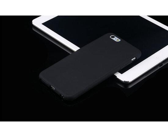 """Силиконовый черный чехол """"soft touch"""" для iPhone 6 Plus/6S Plus"""