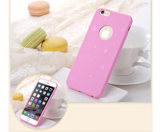 Силиконовый ярко-розовый чехол для iPhone 6 Plus/6S Plus