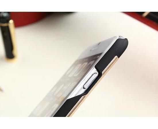 """Чехол с алюминиевой задней крышкой """"Motomo"""" пластиковый для iPhone 6 Plus/6S Plus золотой"""
