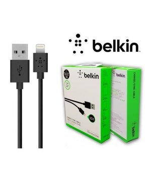 "Lightning USB кабель ""Belkin"" 1.2m черный для iPhone/iPod/iPad"