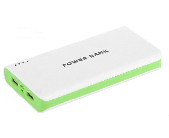 Внешний аккумулятор зеленый на 12000 mAh