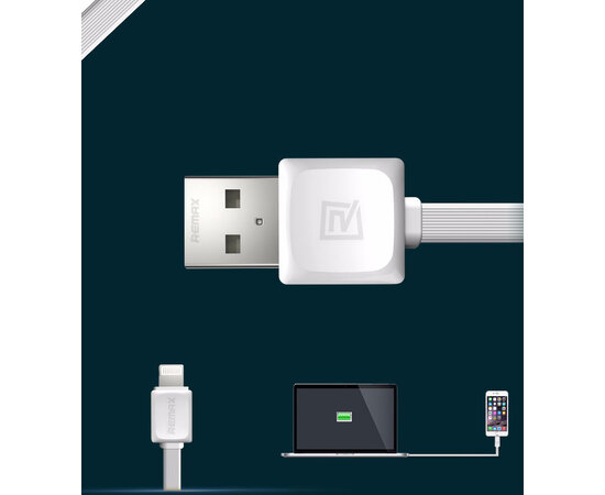 "Lightning USB кабель ""Remax"" белый для iPhone/iPod/iPad"