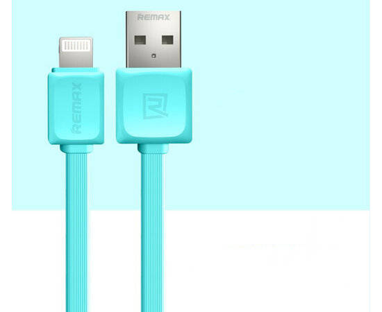 "Lightning USB кабель ""Remax"" голубой для iPhone/iPod/iPad"